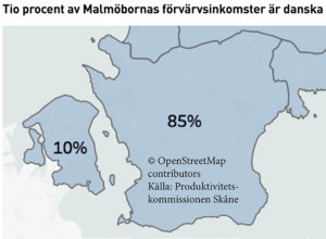Skånsk produktivitet ökar och Köpenhamn har blivit en viktigare arbetsmarknad än Lund för Malmöborna