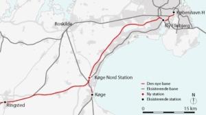 Danmarks första höghastighetsjärnväg är invigd
