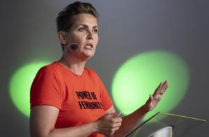 Mette Frederiksen vill att Danmark blir ett grönt föregångsland